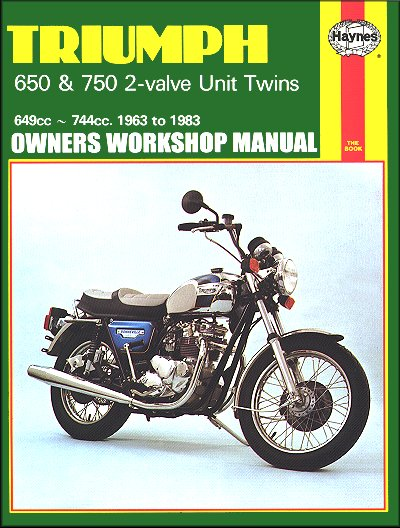 triumph bonneville 650 750 twin repair manual 1963 1983 haynes rh themotorbookstore com tiger 800 service manual triumph tiger 800 owner's manual
