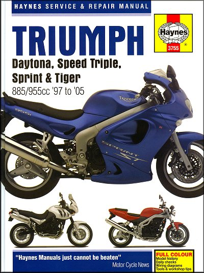 triumph daytona speed triple sprint repair manual 1997 2005 rh themotorbookstore com speed triple 2011 manual speed triple rs manual