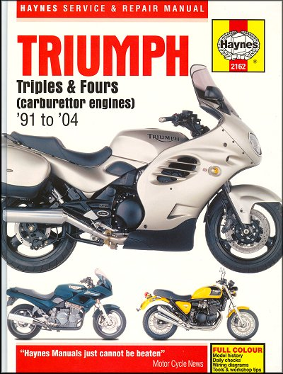 triumph motorcycle repair manual 1991 2004 25 triumph trident, sprint, daytona repair manual 1991 2004 haynes Wiring Schematics for Johnson Outboards at honlapkeszites.co