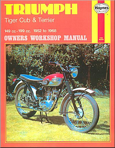 triumph tiger super cub terrier bantam repair manual 1952 1968 rh themotorbookstore com tiger 800 service manual triumph tiger 800 service manual pdf