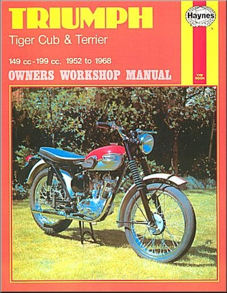 triumph tiger cub terrier repair shop manual 1952 1968 33 triumph tiger, super cub, terrier, bantam repair manual 1952 1968 Coil Wiring Diagram at gsmx.co