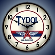 Tydol Gas Wall Clock, LED Lighted: Gas / Oil Theme
