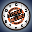 Tydol Veedol Wall Clock, LED Lighted: Gas / Oil Theme