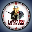 Uncle Sam Wall Clock, LED Lighted