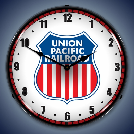 Union Pacific Railroad Wall Clock, LED Lighted