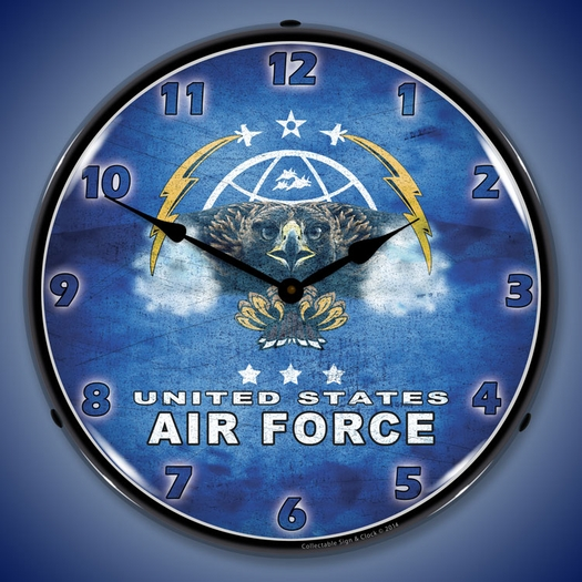 United States Air Force Wall Clock, LED Lighted