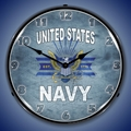United States Navy Wall Clock, LED Lighted
