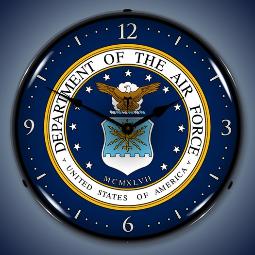 US Air Force Wall Clock, LED Lighted