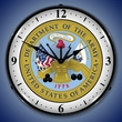 US Army Seal/Logo Wall Clock, LED Lighted