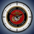 US Marine Corps Wall Clock, Lighted