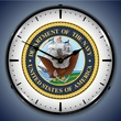 US Navy Wall Clock, LED Lighted