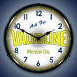 Valvoline Motor Oil Wall Clock, LED Lighted: Gas / Oil Theme