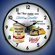 Veedol Motor Oil Wall Clock, LED Lighted