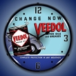Veedol Oil and Grease Wall Clock, LED Lighted
