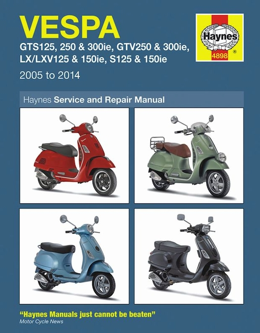 Vespa GTS, GTV, LX, LXV, S Repair Manual 2005-2014 - Haynes on vespa dimensions, vespa motor diagram, vespa stator diagram, vespa sprint wiring, vespa engine, vespa clock, vespa 150 wiring, electric scooter diagram, vespa frame diagram, vespa v50 wiring, vespa switch diagram, vespa accessories, vespa parts diagram, scooter battery wire diagram, vespa seats,