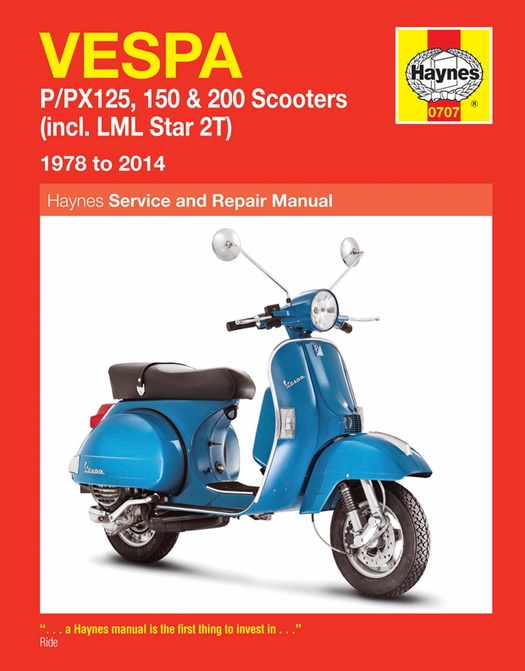 vespa repair manual by haynes 1978 2014 p px 125 150 200 star 2t rh themotorbookstore com service manual vespa primavera 125 service manual vespa
