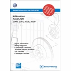 Volkswagen GTI, Rabbit 2006-2009 Repair Manual on DVD