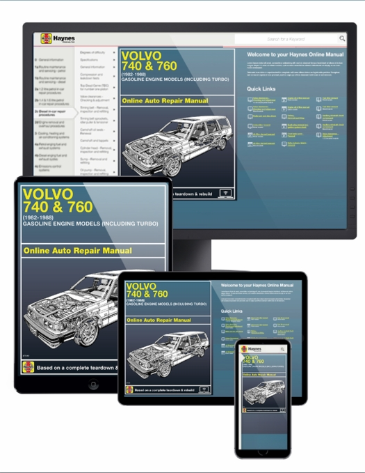 Volvo 740 & 760 Series Online Service Manual, 1982-1988