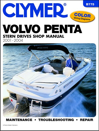 volvo penta stern drives repair manual 2001 2004 clymer rh themotorbookstore com Used Volvo Penta Sterndrives volvo penta sterndrives 1968-91 repair manual
