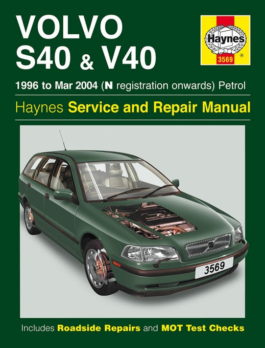 volvo s40 v40 repair manual 1996 2004 haynes 3569 best price rh themotorbookstore com Volvo S60 volvo s40 v40 owners manual 2002