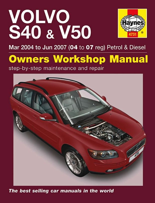 volvo s40 v50 repair manual 2004 2007 haynes 4731 rh themotorbookstore com volvo v50 owner's manual Volvo C30