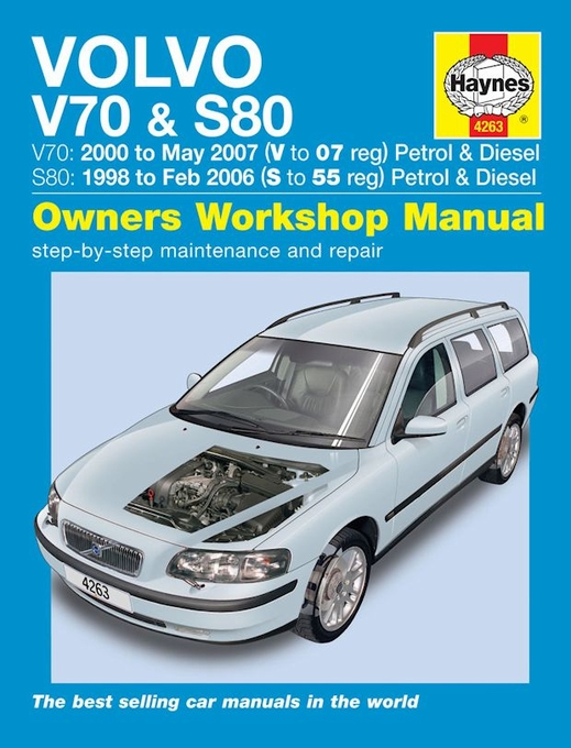 volvo v70 s80 repair manual 1998 2007 haynes 4263 rh themotorbookstore com 2000 volvo v70 xc owners manual 2000 volvo v70 service manual pdf