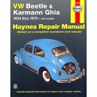 VW Beetle & Karmann Ghia Repair Manual 1954-1979
