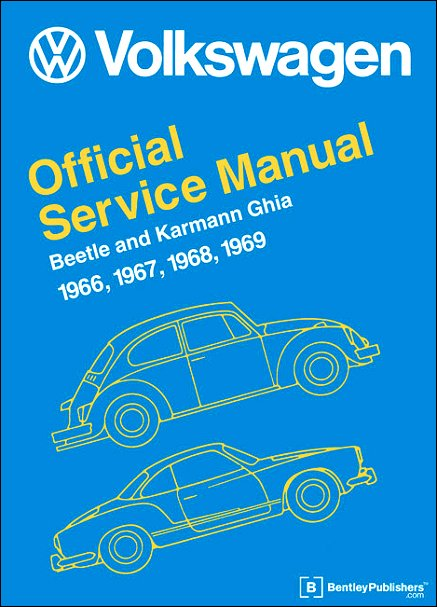 vw beetle karmann ghia repair manual 1966 1969 bentley v121 rh themotorbookstore com Kubota Tractor Repair Manual Parts Manual