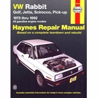 VW Rabbit, Golf, Jetta, Scirocco, Pickup Repair Manual 1975-1992