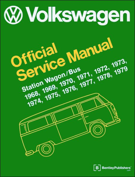 vw station wagon vw bus type 2 repair manual 1968 1979 rh themotorbookstore com VW Routan Service Manuals 2000 VW Beetle Oil Pump