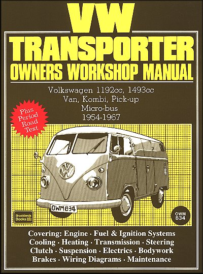 volkswagen transporter repair manual 1954-1967: van, kombi, pick-up,  micro-bus