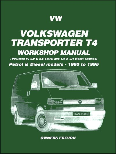 vw transporter t4 repair shop manual gas diesel 1990 1995 rh themotorbookstore com vw transporter service manual free vw transporter service manual pdf