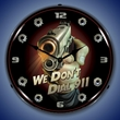 We Don't Dial 911 Wall Clock, Lighted
