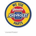 """We Use Genuine Chevrolet Parts"" Tin Sign"