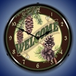 Welcome Wall Clock, Lighted