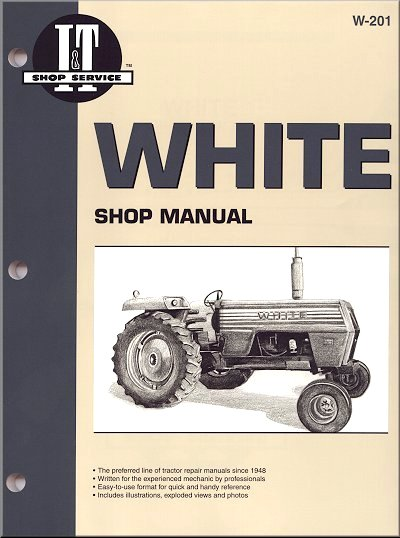 white repair manual 2 70 2 85 2 105 2 150 2 135 2 155 2 30 2 75 rh themotorbookstore com Tractor Owners Manuals Bolens Lawn Tractor Manual