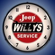 Willys Approved Service Wall Clock, LED Lighted