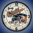 Willys on the Rocks Wall Clock, LED Lighted
