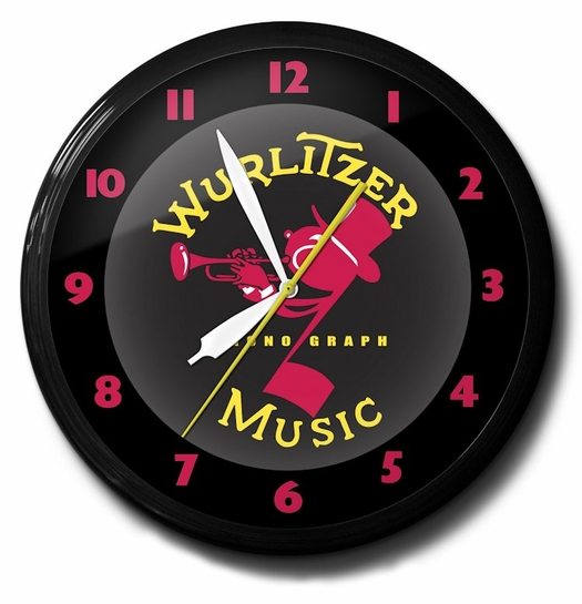 Wurlitzer Music Neon Clock, High Quality, 20 Inch