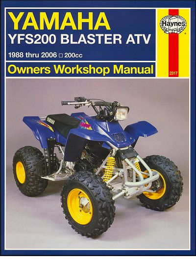 yamaha blaster yfs200 atv repair manual 1988 2006 haynes 2317 rh themotorbookstore com 2002 yamaha blaster 200 manual 2002 yamaha blaster 200 manual