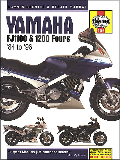 Yamaha Fj1100 Fj1200 Repair Manual 1984 1996 Haynes 2057