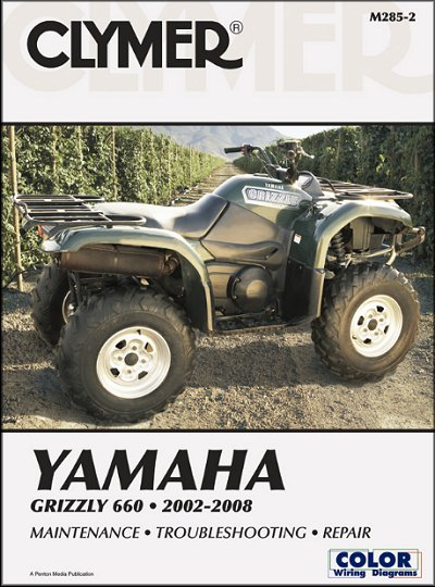 yamaha grizzly 660 repair shop manual 2002 2008 clymer m285 2 rh themotorbookstore com 2012 yamaha grizzly owners manual 2012 yamaha grizzly 450 service manual