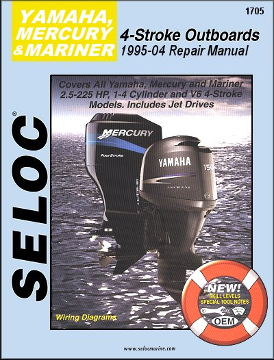 4 stroke yamaha outboard manual 1995 2004 for Yamaha outboard service