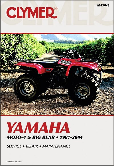 yamaha yfm350 yfm400 moto 4 big bear repair manual 1987 2004 rh themotorbookstore com Yamaha 350 Big Bear 2013 Yamaha Big Bear 400