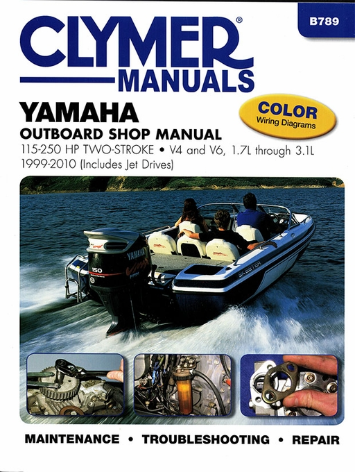 yamaha outboard repair manual 115 250 hp two stroke 1999 2010 rh themotorbookstore com 50 hp evinrude wiring diagram 2010 yamaha marine wiring diagram #50