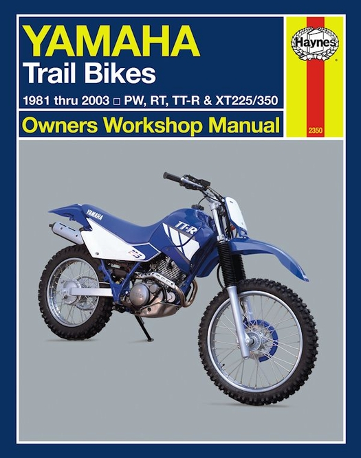 1981 2003 yamaha trail bikes 50 350cc repair manual rh themotorbookstore com Yamaha Dirt Bike 1990 Yamaha RT 180 Throttle Problem