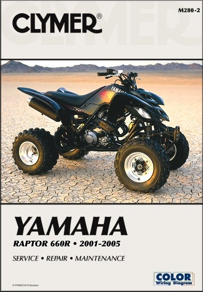 yamaha raptor 660r repair manual 2001 2005 clymer m280 2. Black Bedroom Furniture Sets. Home Design Ideas