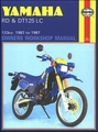 Yamaha RD125, DT125 LC Repair Manual 1982-1987