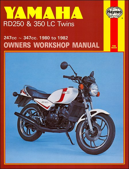 Yamaha Rd250  Rd350 Twins Repair Manual 1980