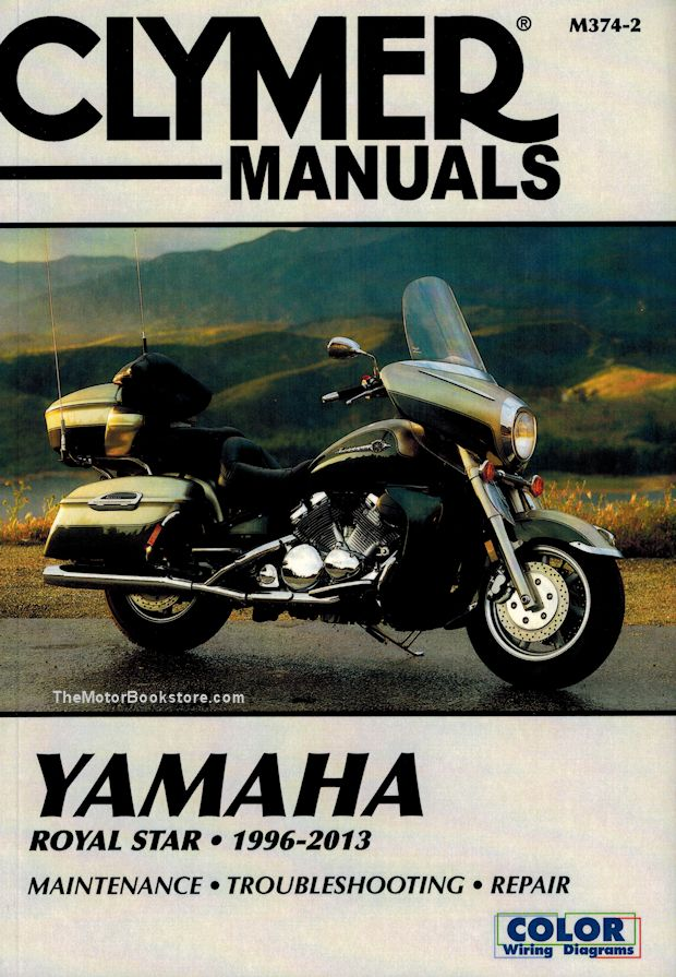yamaha royal star repair manual by clymer 1996 2013 rh themotorbookstore com Yamaha Motorcycle Engine Manual motorcycle manual yamaha road star warrior